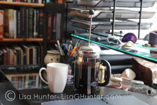 writing-desk-with-bookshelves-and-coffee-plunger