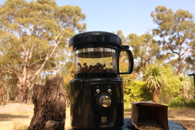 coffee-beans-roasting-in-portable-coffee-roaster