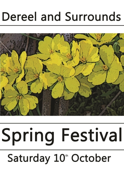 The Spring Festival logo features the Erect Guinea Flower