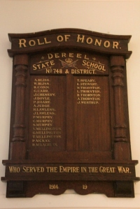 Dereel-Roll-of-Honour-on-wall-at-Dereel-Soldiers-Memorial-Hall