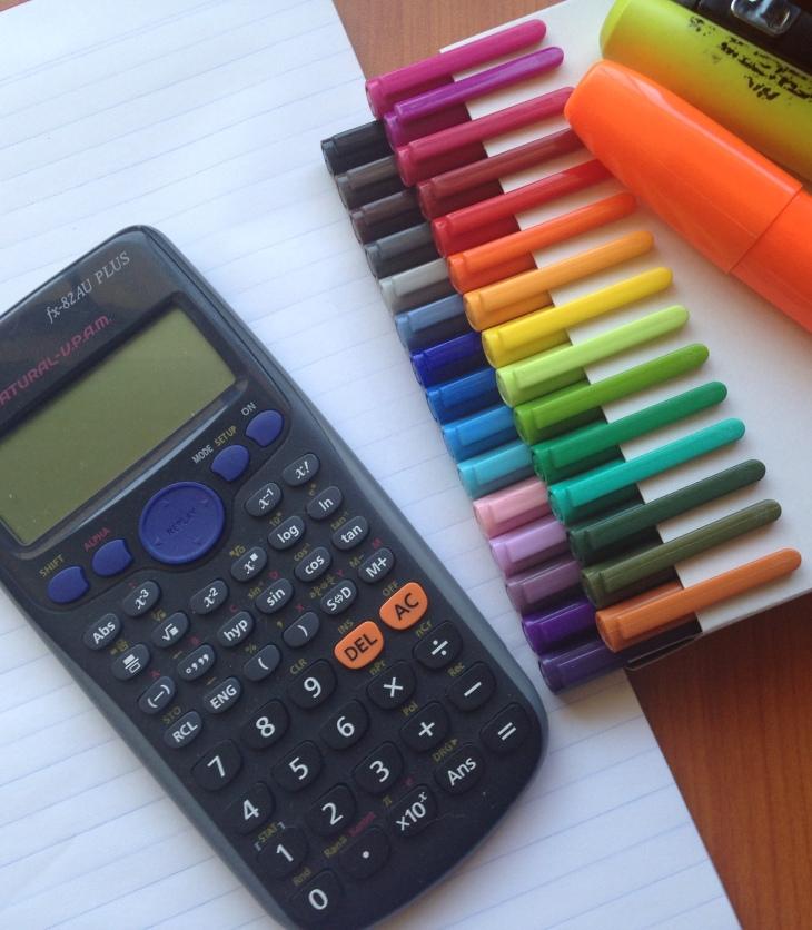 tuition-calculator-pens-stapler-writing-pad