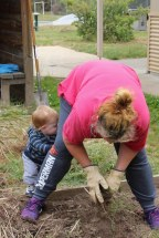 Gardening with-a young-child