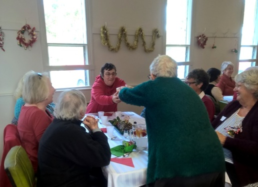 Members of the Rokewood Walking Group pass the parcel.