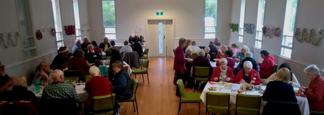 The Christmas In July lunch, hosted by the Dereel Walking Group was well attended.