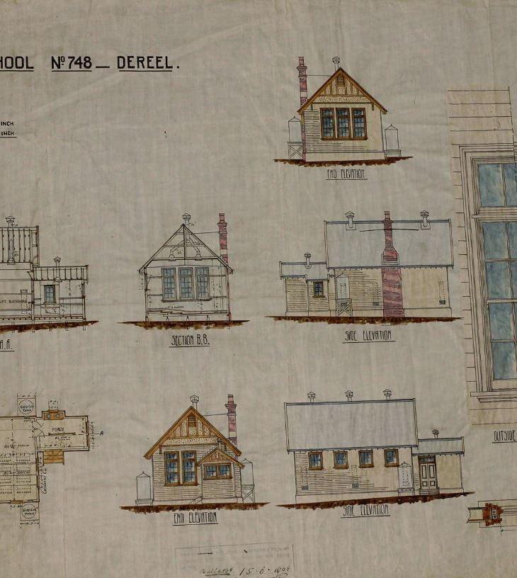Dereel-school-plans-on-display-at-Dereel-History-Day