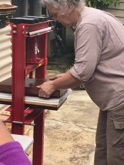 Papermaking: pressing out water