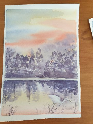Watercolour: Painting reflections
